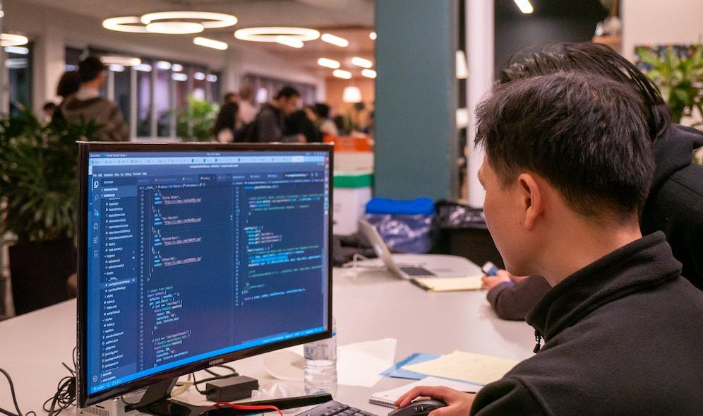 Web Developer Sitting At A Computer